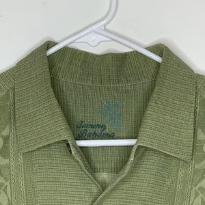 Tommy Bahama Mens Silk Shirt SS Green Tropical LG